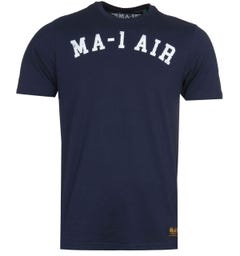 MA-1 AIR Print Navy T-Shirt
