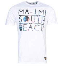 MA-1 South Beach Print White T-Shirt