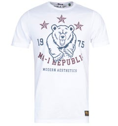 MA-1 Republic Print White T-Shirt