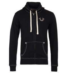 True Religion Black Zip Hoodie