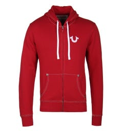 True Religion Ruby Red Classic Zip Up Hoodie