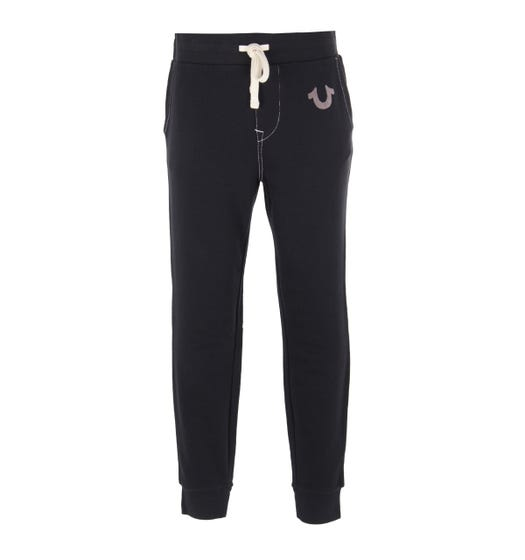 True Religion Classic Logo Black Sweatpants