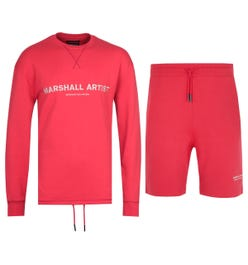 Marshall Artist Non Anth Sweatshirt & Shorts Red Tracksuit