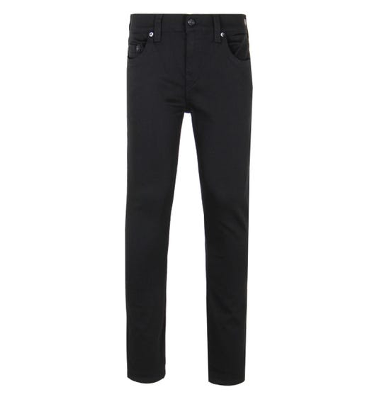 True Religion Black Rocco Relaxed Skinny Fit Jeans