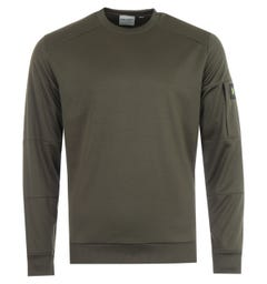 Lyle & Scott Sleeve Pocket Crew Neck Sweatshirt - Trek Green