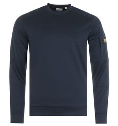 Lyle & Scott Sleeve Pocket Crew Neck Sweatshirt - Dark Navy