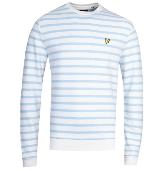 Lyle & Scott Breton Stripe Pool Blue Sweatshirt