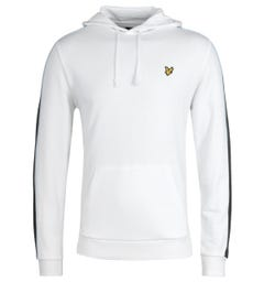 Lyle & Scott Side Panel White Hooded Sweatshirt
