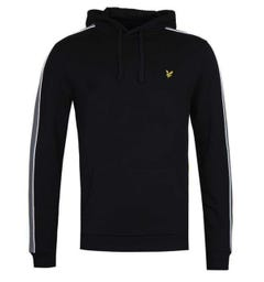 Lyle & Scott Side Panel Jet Black Pullover Hoodie