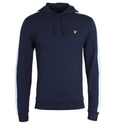 Lyle & Scott Side Panel Navy Hooded Sweatshirt