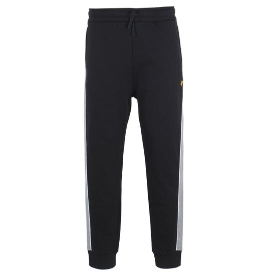 Lyle & Scott Side Panel Jet Black Joggers