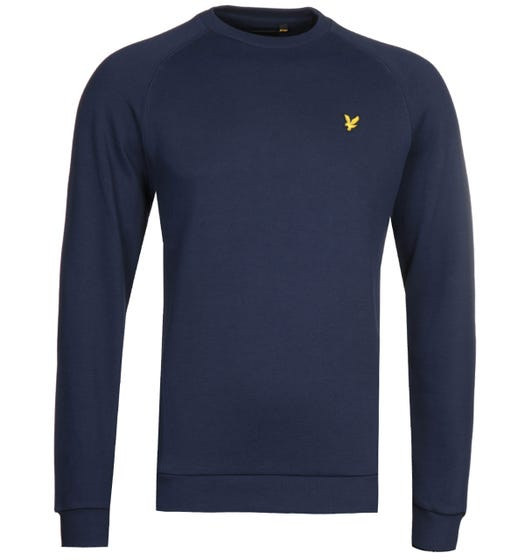 Lyle & Scott Raglan Pique Sweatshirt - Navy