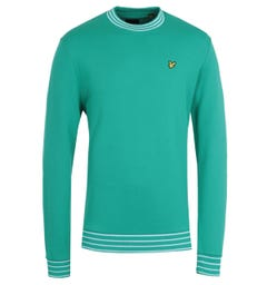 Lyle & Scott Aqua Salt Multi Tipped Sweatshirt