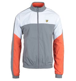 Lyle & Scott Mid Grey Marl Multi Panel Zip Through Track Jacket