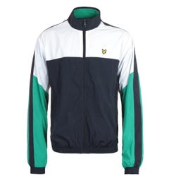 Lyle & Scott Dark Navy Multi Panel Zip Through Track Jacket