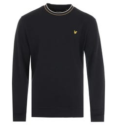 Lyle & Scott Tipped Pique Sweatshirt - Jet Black