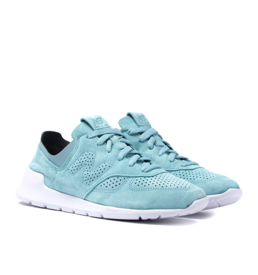 New Balance ML1978 Turquoise Suede Vibram Sole Trainers