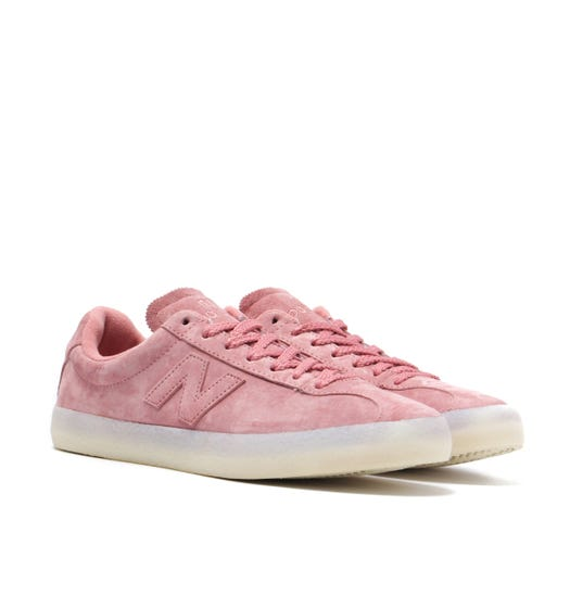 New Balance 220 Pink Suede Trainers