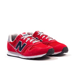 New Balance 373v2 Suede & Mesh Trainers - Red
