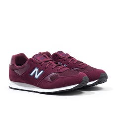 New Balance 393 Burgundy Suede Trainers