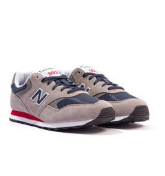 New Balance 393 Suede & Mesh Trainers - Grey & Navy
