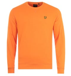 Lyle & Scott Crew Neck Sweatshirt - Risk Orange