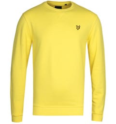Lyle & Scott Yellow Crew Neck Sweatshirt