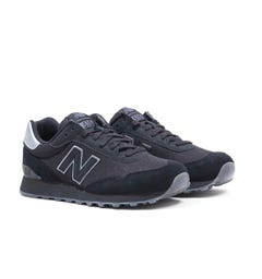 New Balance 515 Black & Castlerock Suede Trainers