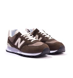 New Balance 574 Suede & Mesh Trainers - Brown
