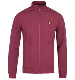 Lyle & Scott Zip Through Funnel Neck Burgundy Soft Shell Jacket