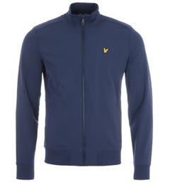 Lyle & Scott Zip Through Funnel Neck Soft Shell Jacket - Navy