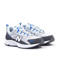 New Balance ML615 Magnet Grey & Cobalt Blue Trainers