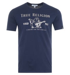True Religion Chad Core T-Shirt - Navy