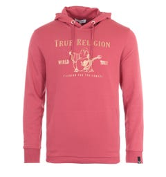 True Religion Chad Core Hooded Sweatshirt - Raspberry