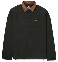 Barbour Beacon Healey Contrast Collar Brown Overshirt