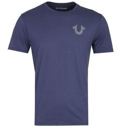True Religion 'Crafted With Pride' Navy Crew Neck T-Shirt