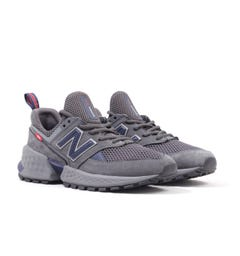 New Balance 574 'Decades Pack' Mesh & Nubuck Trainers - Charcoal & Navy