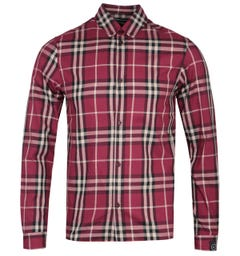 Marshall Artist Regular Fit Long Sleeve Red Checked Shirt