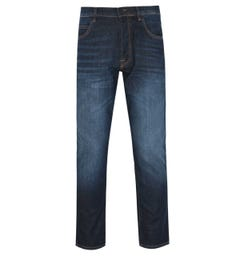 Marshall Artist Regular Tapered Dark Vintage Blue Denim Jeans