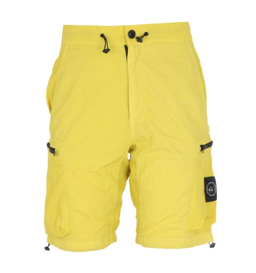 Marshall Artist Garment Dyed Sulphur Yellow Cargo Shorts