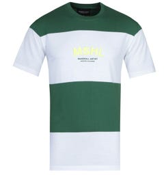 Marshall Artist Mercer Green & White Striped T-Shirt