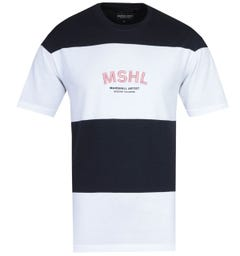 Marshall Artist Mercer Navy & White Striped T-Shirt