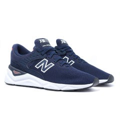 New Balance X-90 Navy Blue & White Mesh Trainers