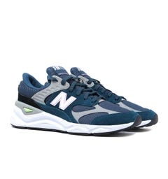 New Balance X-90 Navy Blue With White Suede & Mesh Trainers