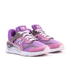 New Balance X90 Canvas & Suede Trainers - Purple