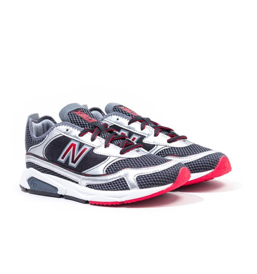 New Balance X-Racer Black & Silver Trainers