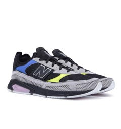 New Balance X-Racer Black, White & Contrast Detail Mesh Trainers