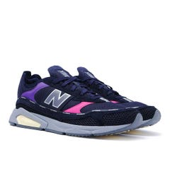 New Balance X-Racer Navy & Pink Tones Mesh Trainers