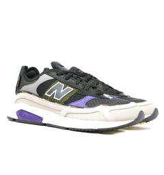 New Balance X-Racer Black, Beige & Purple Detail Mesh Trainers