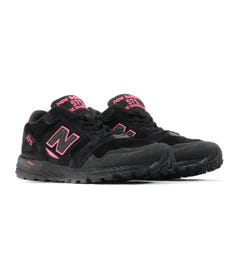 New Balance Trail 575 Made in England Suede Trainers - Black & Highlighter Pink